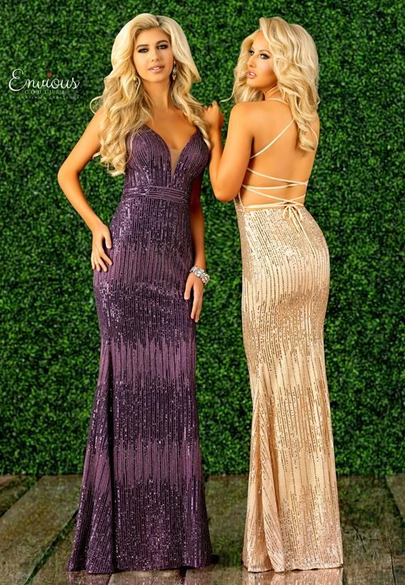 Sequined Tulle Purple,Champagne E1418