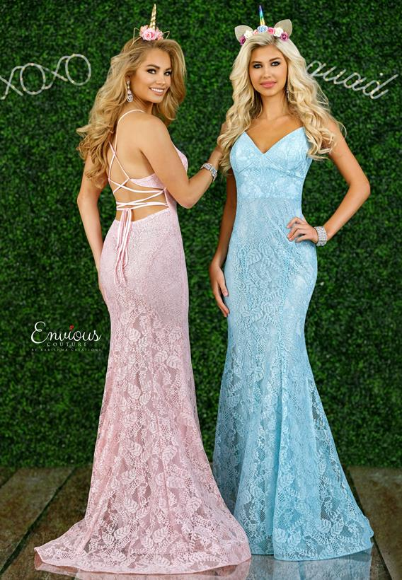 Glittered Lace Pink,Cadet Blue E1440