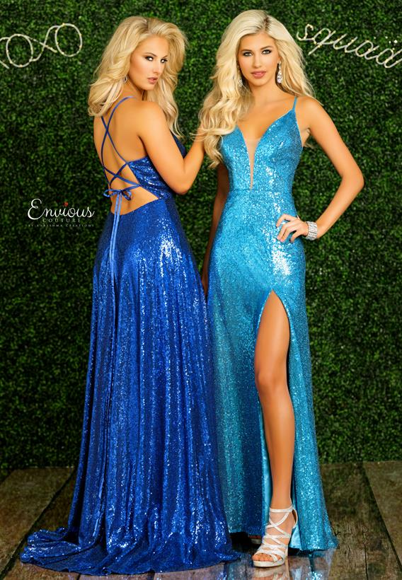 Sequins  Turquoise,Royal E1452