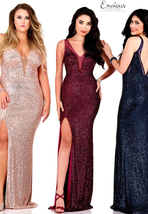 Sequined Tulle Black,Champagne,Navy,Burgundy E1500
