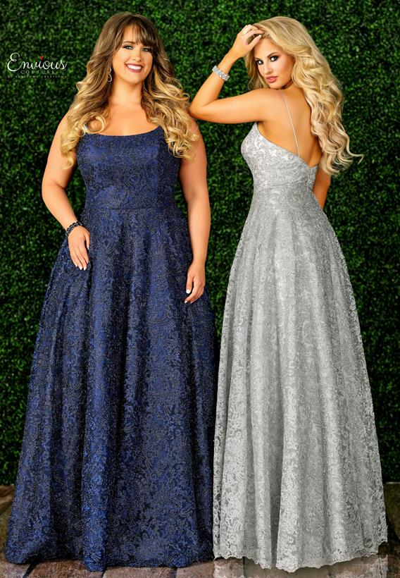 Beaded Applique Tulle Navy,Silver E1501