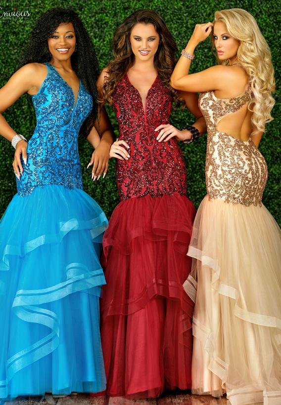 Beaded Tulle Burgundy,Rose Gold,Turquoise E1516