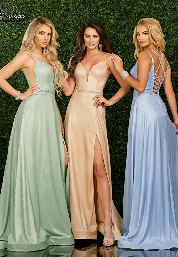 Beaded Shimmer Jersey Nude,Mint,Ice Blue E1562