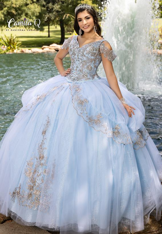 Beaded Embroidered Applique Tulle Peach Blossom,Baby Blue Q1003