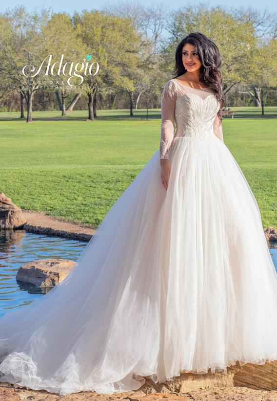 Beaded Shimmer Tulle Ivory,White W9314