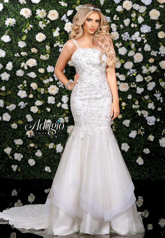 Beaded 3D Applique Tulle Ivory,White W9335