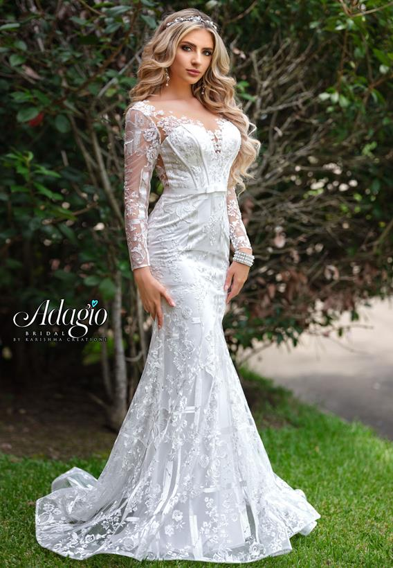 Beaded Embroidered Tulle Ivory,White W9344